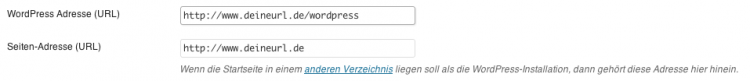 WordPress Konfiguration